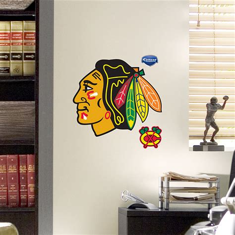 Blackhawks Fathead Giveaway - fathead teammate chicago blackhawks logo 6 pack chicago blackhawks nhl