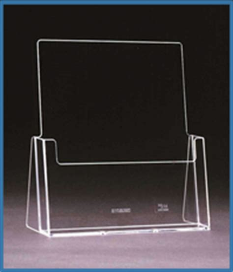 ral10 portrait free standing business card holder perspex plastic business card holders leaflet holders free standing