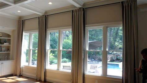 window dressings full wall window treatments living room pinterest