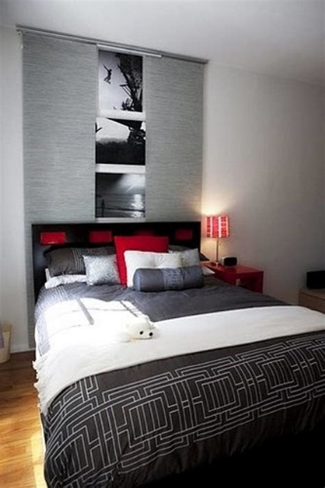 red and gray bedroom ideas awesome color blend in modern bedroom with grey cover and