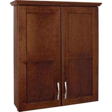 glacier bay casual 25 in w bath storage cabinet in cognac