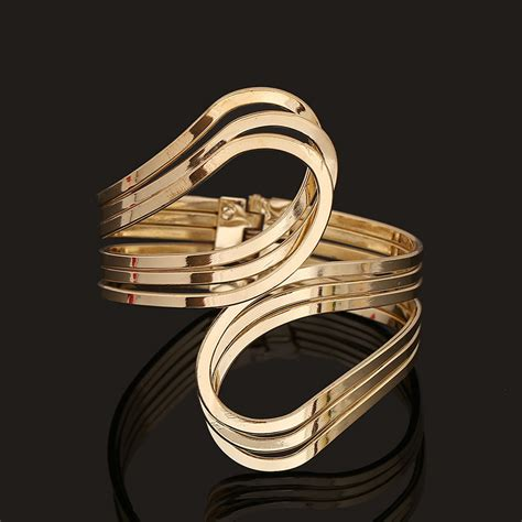 Arm Bangles And Bracelets 2017 fashion bijoux gold silver hip hop bangles