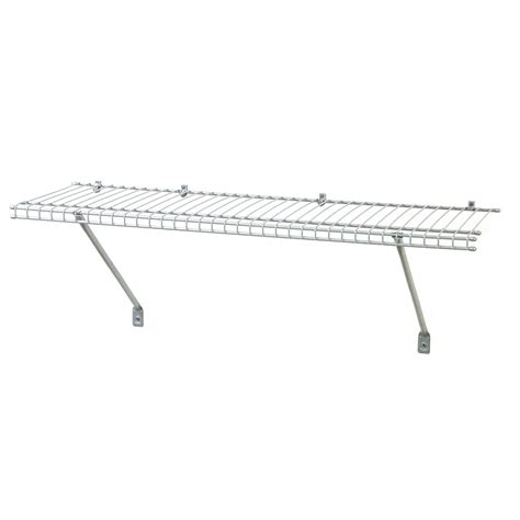 shop closetmaid 3 ft x 12 in white wire shelf at lowes