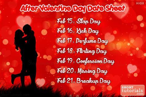 day after valentines anti week days