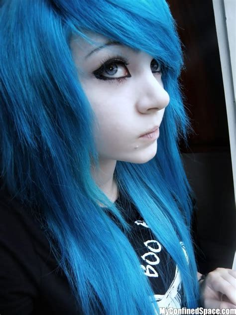 blue hair emo lifestyle emo girls blue hair