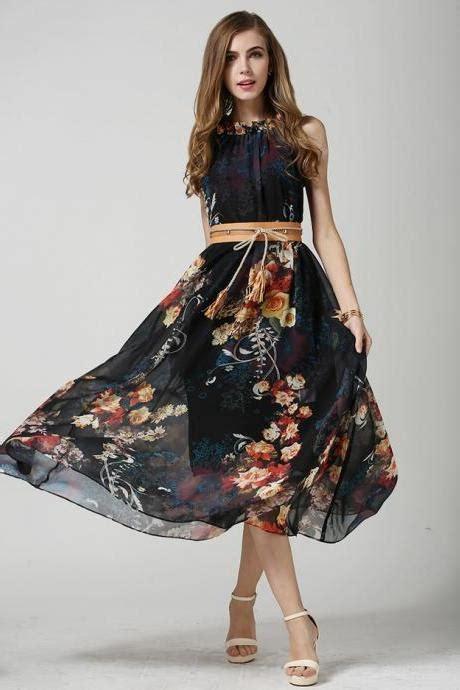 Swing Kleid Chiffon by 2015 Fashion Patchwork Summer Chiffon Striped Casual