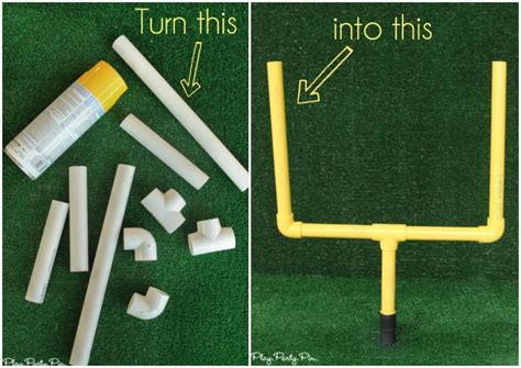 How To Make A Football Field Out Of Paper - diy field goal post