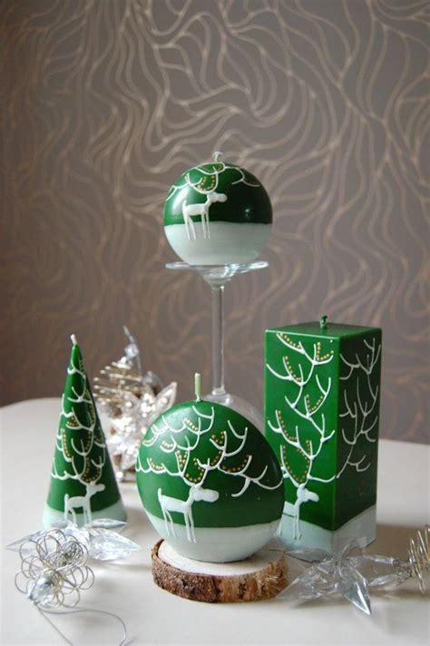 hand painted christmas candle crafts pinterest