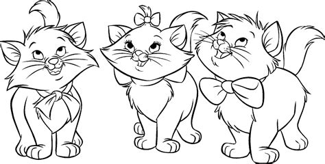 The Aristocats Coloring Page Tattoo Flash Characters Aristocats Coloring Pages