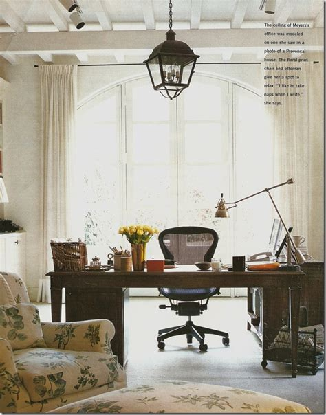 Off White Desk Chair Cote De Texas Uncomplicated Nancy Meyers Own Home
