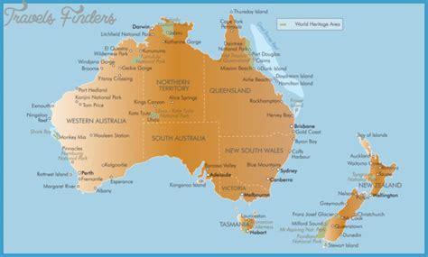 map of australia and nz new zealand map australia travelsfinders
