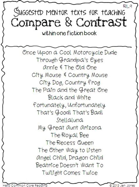 compare and contrast picture books readings for compare and contrast compare and contrast