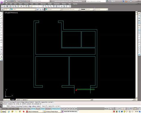 Auto Cad Floor Plan autocad how to draw a basic architectural floor plan from