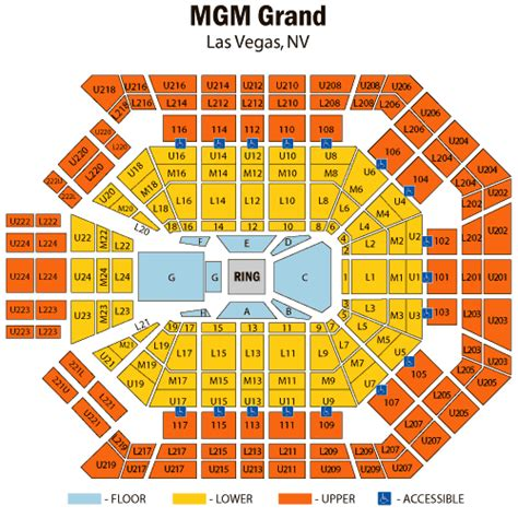 mgm grand seating chart boxing manny pacquiao vs juan manuel marquez november 12 tickets