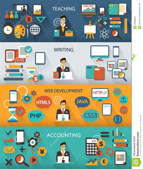 design freelance jobs flat design freelance jobs infographic with long shadows
