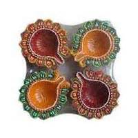 Handmade Decorative Diyas - decorative diya manufacturers suppliers exporters in