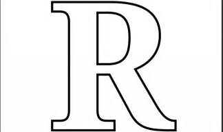 R Coloring Pages free script letter r coloring pages