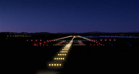 runway lights at night runway lighting