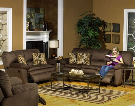 catnapper durango leather sofa durango 2 reclining sofa set in cocoa color fabric
