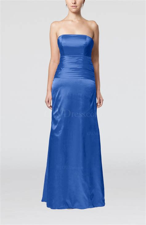 Blue Silk Backless Dress royal blue strapless backless silk like satin
