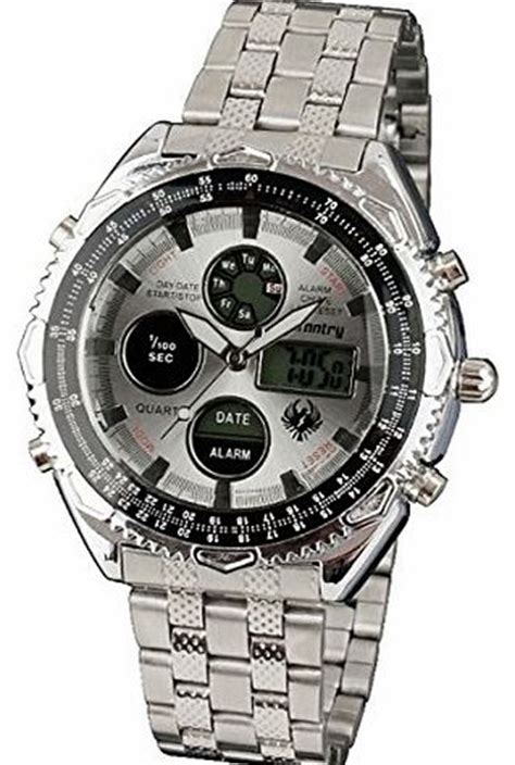 Expedition 6335 Silver Combi Black Rubber alarm chronograph