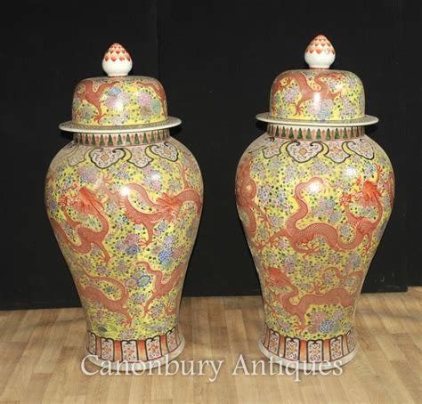 Large Urns And Vases by Pair Large Ming Porcelain Lidded Vases Urns