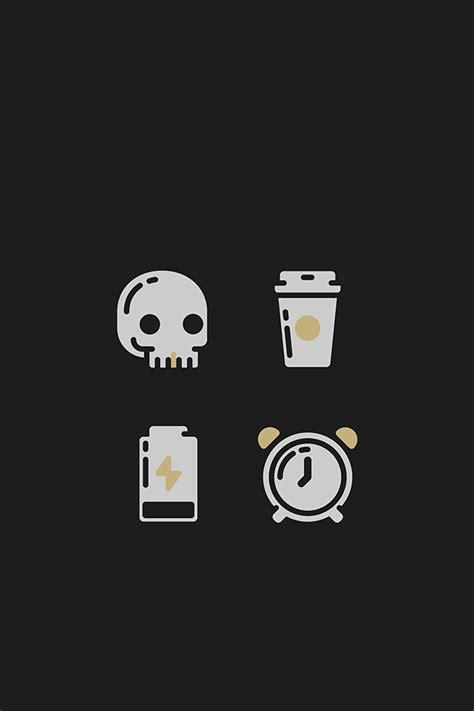 tap     app art black skull coffee alarm