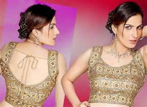 Blouse neck designs for wedding sarees