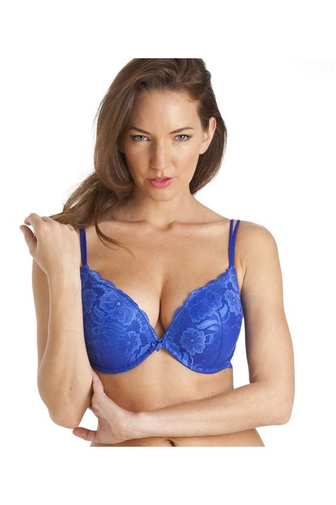 Bra C A Color Blue boost padded push up blue underwire bra