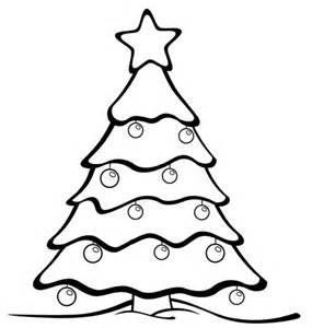 Christmas tree ball colouring pages