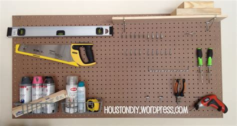 diy pegboard homemade pegboard get organized houston diy