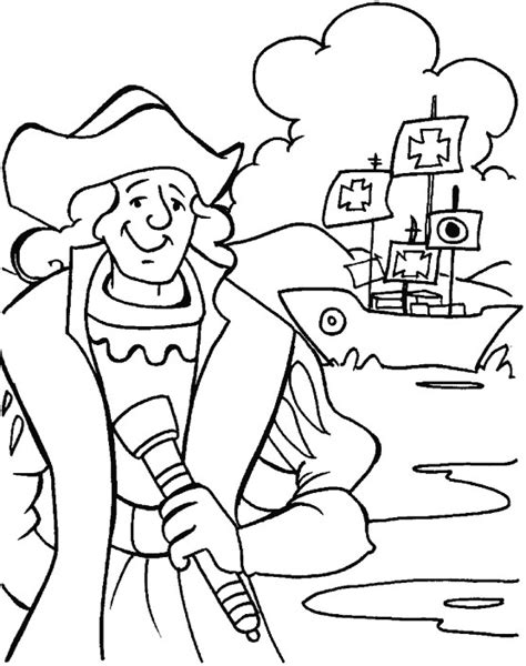 columbus in dilemma what to do coloring page download