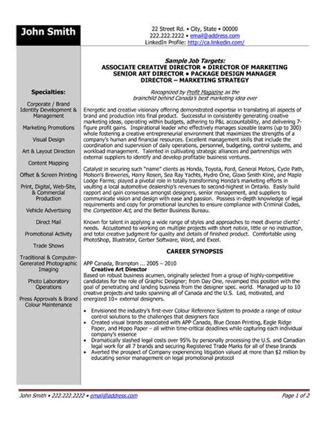 senior director resume sle template