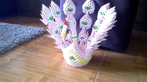 tutorial pavo real origami 3d origami 3d pavo real youtube