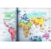Mapa Planisferio Con Nombres