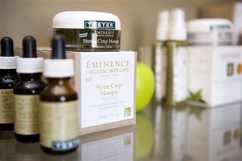 Eminence Blueberry Detox Peel by Eminence Organic Skin Care Display Bamboo Spa A Sneak