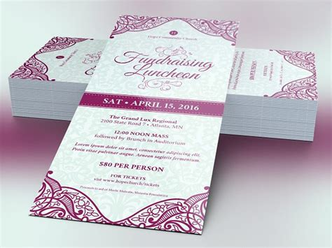 Fundraising Luncheon Flyer Template Flyer Templates On Creative Market Luncheon Flyer Template
