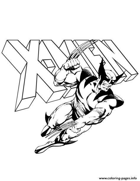 coloring pages wolverine x wolverine and x logo comic coloring pages printable