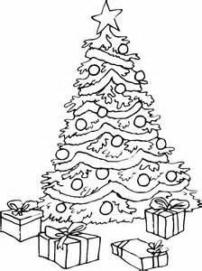 Christmas Tree  Coloring sketch template