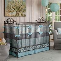 Windy Day Crib Bedding  Blue White And Gray Carousel