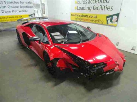 crashed lamborghini for sale lamborghini aventador sv lp750 4 v12 2016 salvage cat d