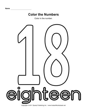 coloring page number 18 color number 18