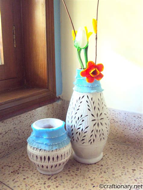 How To Decorate Pot by Decorate Terracotta Pots Using Fabric Modern World