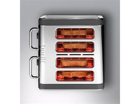 Top Of The Range Toasters Grey Stainless Steel Panels Architect 4 Slot Toaster