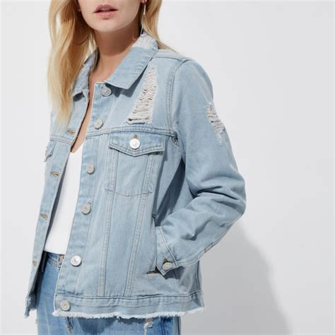 Ripped Jacket blue ripped denim jacket coats jackets sale