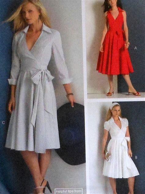 sewing pattern wrap collared wrap dress sewing pattern uncut mccalls m5314