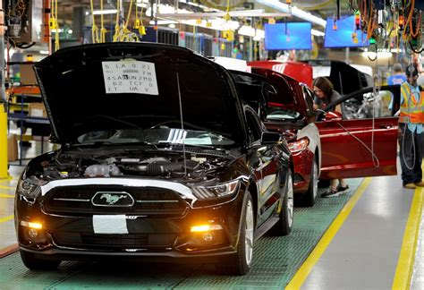 ford production plants 2015 ford mustang production starts at flat rock plant