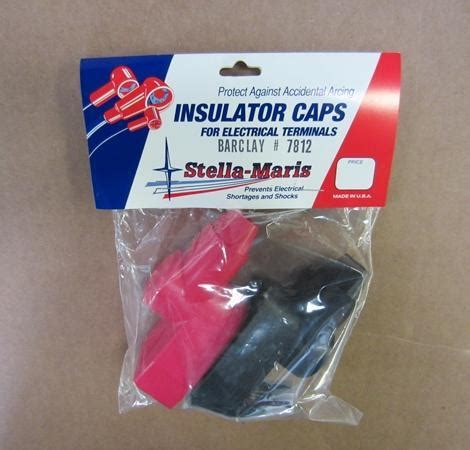 boat battery red positive stella maris battery terminal post covers boot pair black