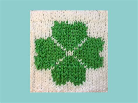 knitting central clover pattern loom knit central