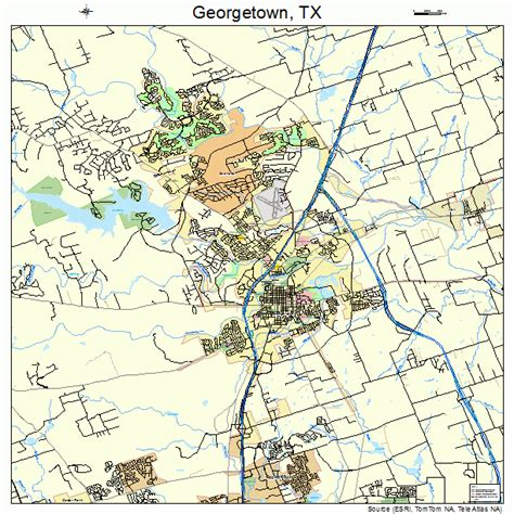 georgetown texas map georgetown texas map 4829336